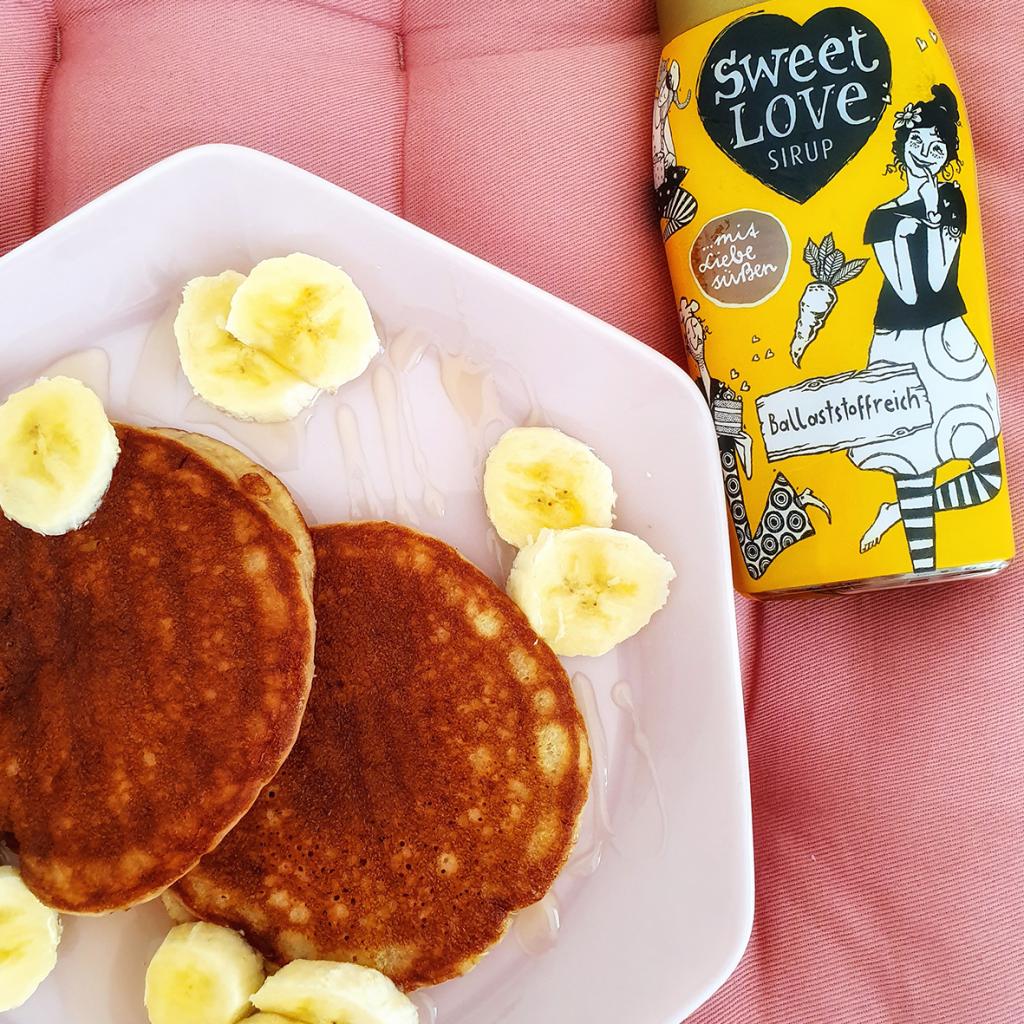 Pancakes mit Sweet Love Sirup
