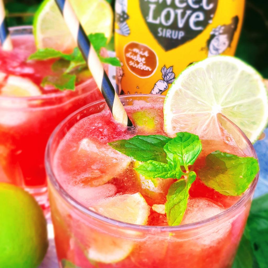 Wassermelonen-Mojito mit Sweet Love Sirup